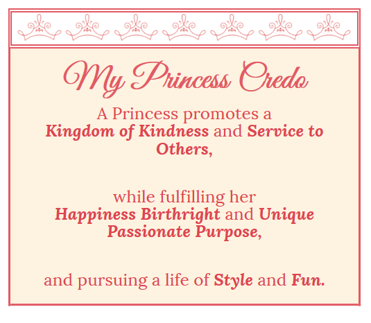 My Princess Credo…it's not all Tatlers and Tiaras
